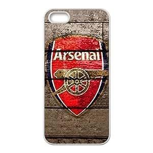 Arsenal funda iPhone 4 4s funda V5M15V3LO caso de la cubierta blanca 200K8X