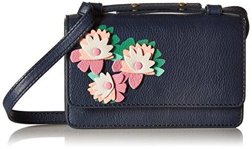 Fossil Mila Mini Bag, Midnight Navy Floral,One - Body Leather Bag Mini Fossil Cross Bag