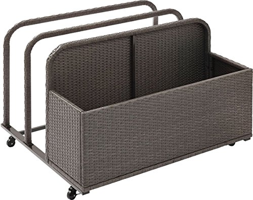 Crosley Furniture Palm Harbor Outdoor Wicker Rolling Pool Float Caddy - Grey by Crosley Furniture