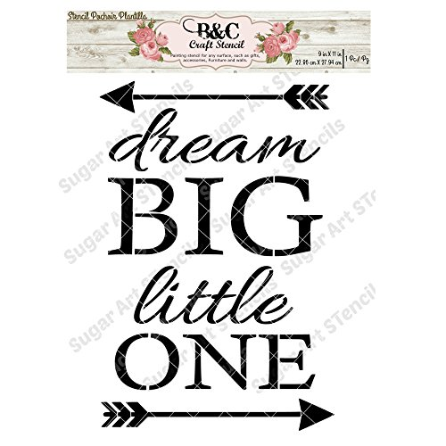 Words quote stencil Dream big little one stencil for craft and home decoration CFT17