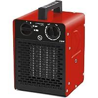 Trotec seramik ısıtıcı, elektrikli ısıtıcı, TDS 10 C, 2000 Watt'a kadar çok kademeli sıcaklık ayarı (2 kW) termostatlı…
