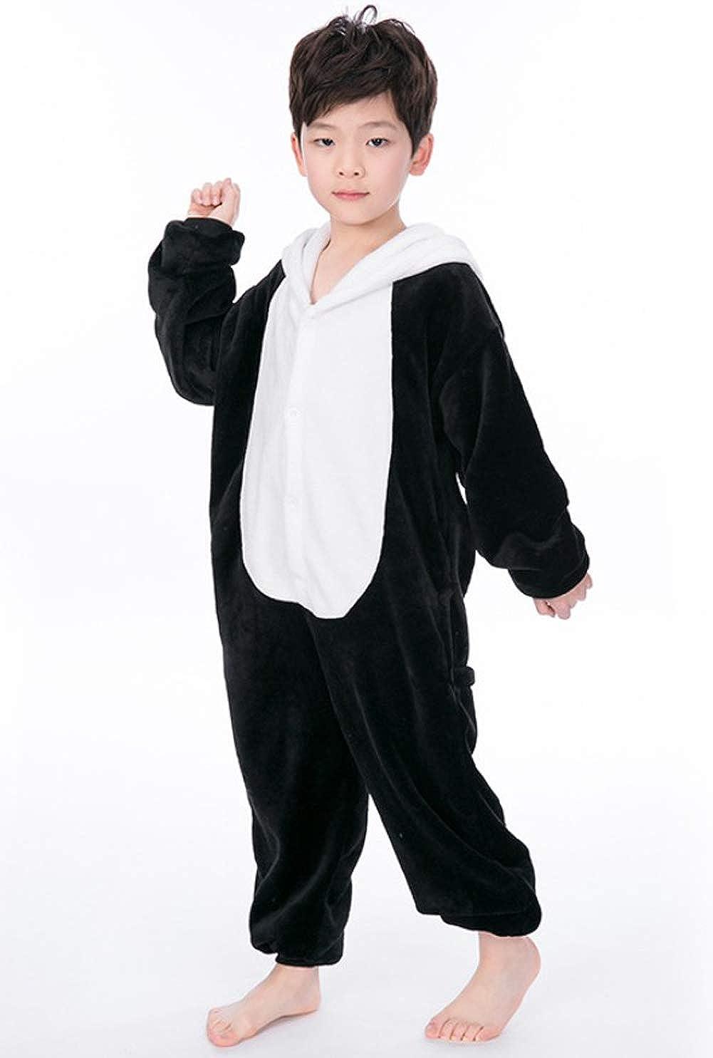 f68e29eab8a7e Enfant Pyjama Unisexe Onesie Kigurumi Animaux Panda Cosplay Costume  Combinaison Vetements de Nuit pour Taille 90-148CM  Amazon.fr  Vêtements et  accessoires