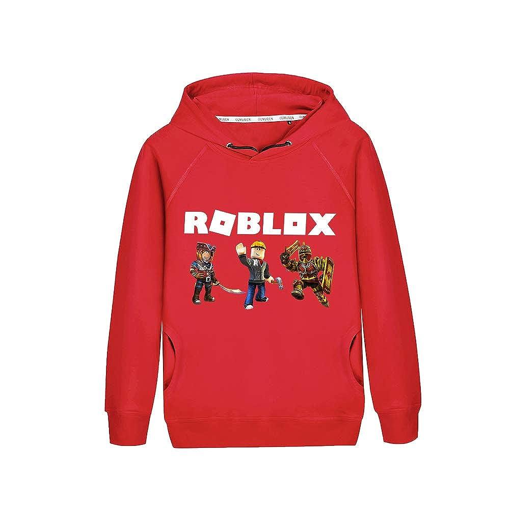 Roblox Pullover Felpa con Cappuccio Fashion Casual Felpa con Cappuccio Classic Pullover con Cappuccio Stampato Ragazzi Che Ragazze