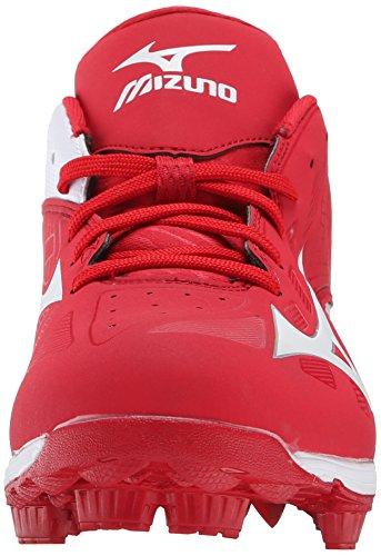 Mizuno Mens 9 Spike Adv Franchise 8 Baseball Taquet Rouge / Blanc