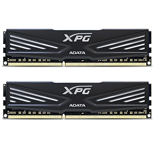 ADATA XPG V1 DDR3 1600MHz (PC3 12800) 8GB (4GBx2) Memory Modules, Black (AX3U1600W4G9-DB) by ADATA