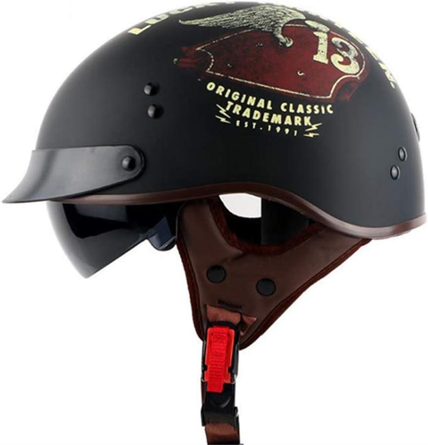 M,L,XL,XXL ,bull,XL MMRLY Open Face motorcycle Half Helmet-D.O.T Certified personalized retro half helmet cruiser scooter Harley motorbike helmet for men and women
