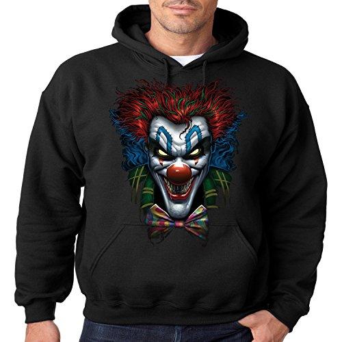 Juiceclouds Evil Clown Hoodie Psycho Clown Liquid Blue Mens Hooded Sweatshirt S-3XL (Black, 3XL)]()