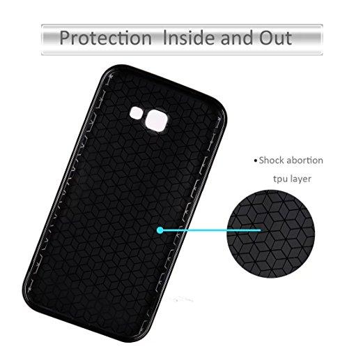 SRY Caja del teléfono de la contraportada, cubierta a prueba de choques híbrida suave de goma del caso de la fibra de carbono TPU para Samsung Galaxy A5 2017 ( Color : Black ) Gold