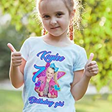 JoJo Siwa Birthday Custom T Shirt Family Name Age