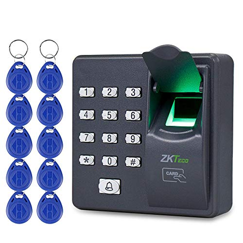 - OBO HANDS Biometric Fingerprint RFID Keypad for Access Control System +10 Keycards+ RFID Crystal Tag
