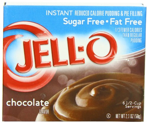 JELL-O Chocolate Instant Sugar Free Pudding & Pie Filling Mix (2.1 oz Boxes, Pack of 24) (Chocolate Fudge Instant Pudding And Pie Filling Mix)