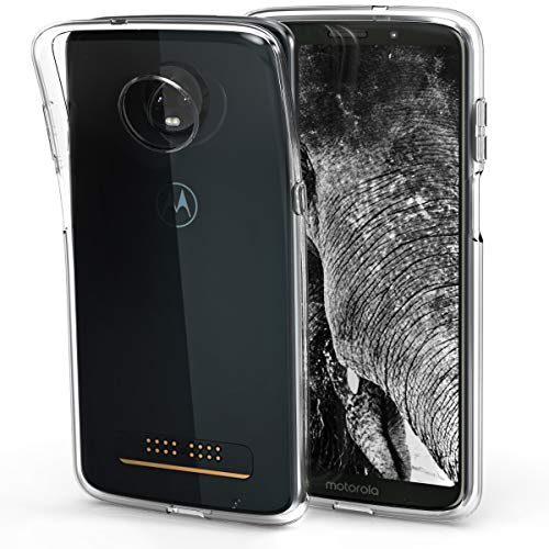 kwmobile Crystal Case for Motorola Moto Z3 Play - Soft Flexible TPU Silicone Protective Cover - Transparent