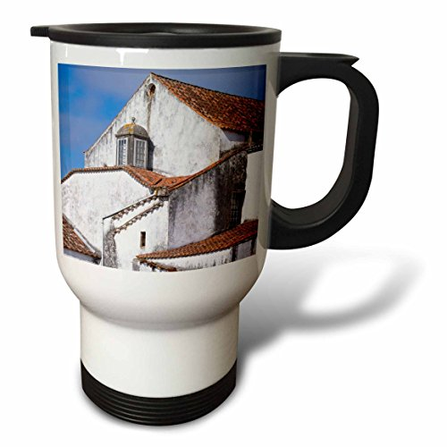 Roof Steel Cotta Terra (3dRose Danita Delimont - Architecture - Portugal, Obidos. Layers of terra cotta tiled roof line the horizon. - 14oz Stainless Steel Travel Mug (tm_277802_1))