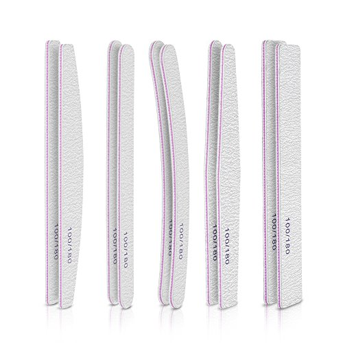 Nail files, Teenitor Nail Buffer Block with Different Shapes