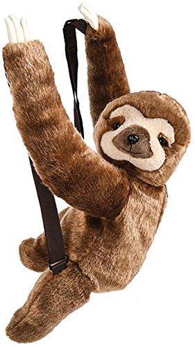 Wildlife Tree Kids 20 Inch Sloth Animal Backpack - Soft Stuffed Animal Small Plush Backpack