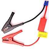 Glantop® Universal Replacement Jumper Jump Starter Cable Clamp Booster Clamp Cable for Spirit Anker Powerall Bolt Powergo Jumbl Ravpower Brightech Car Jump Starter (Black&Red)