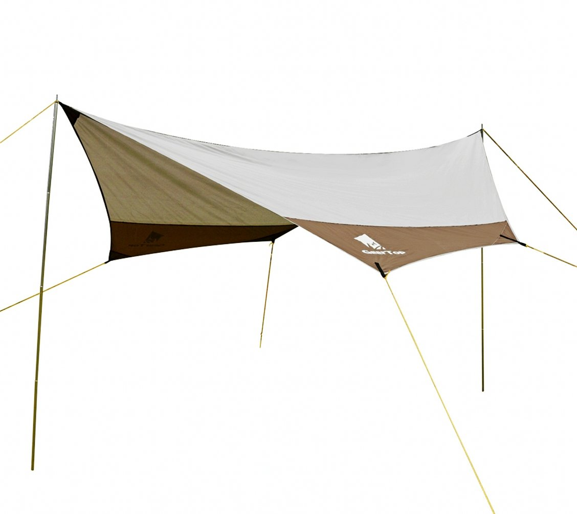 Geertop 4 7 persons large waterproof rain fly sun shelter for Canape sun fly