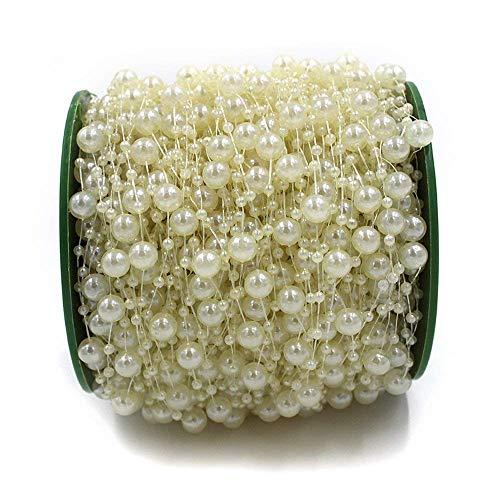 Ictronix 60m Rolle Perlenband Perlenkette Perlengirlande