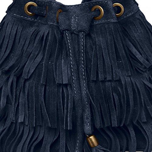CASPAR Fashion - Bolso de asas para mujer Azul - azul
