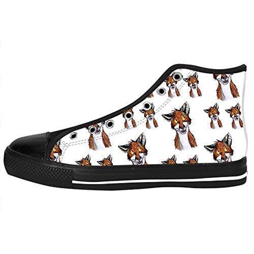 Le Delle Alto Di Men's Custom Fox In Lacci Da Canvas Scarpe Shoes Sopra Tela Ginnastica I 1cPAqY
