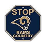 Los Angeles Rams ''STOP'' 12'' Plastic Wall STOP Sign Country Football