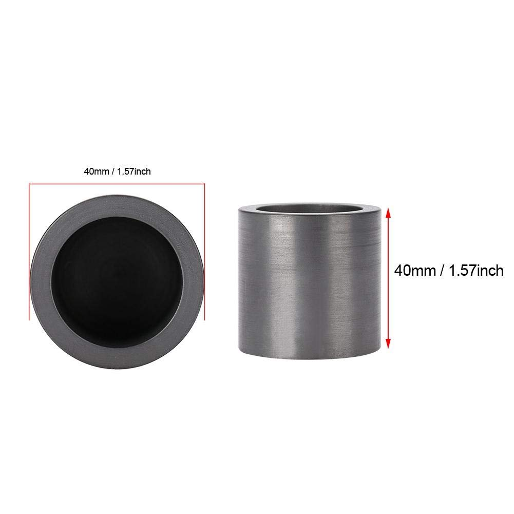 Semme Graphite Crucibles 40 x 40mm High Purity Jewelry Tools Graphite Melting Crucible Casting with Lid Cover