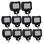 Willpower 10PCS 18w 4 inch Spot LED Work Light Bar for Truck Car ATV SUV 4X4 Jeep Truck Driving Lamp off road led lights
