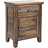 Jofran 1742-20 Artisans Craft Accent Table, 20 W X 13 D X 25 H, Dakota Oak Finish, (Set of 1)