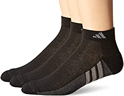 adidas Men\'s Climacool Superlite Low Cut Socks (Pack of 3), Black/Graphite/Medium Lead, One Size