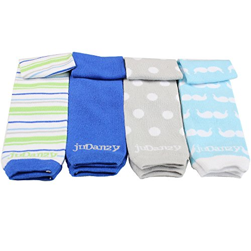 (juDanzy 4-pack Organic baby & toddler leg warmers gift set for boys & girls (Newborn (up to 12 pounds), Jazzy Boy))