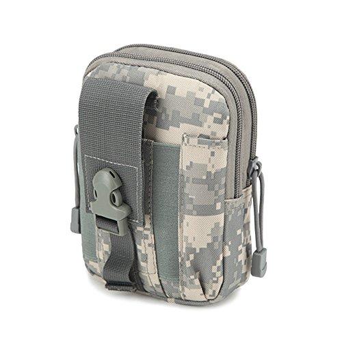 Outdoor Multi-Purpose Poly Waist Pack/Tactical Waist Bag EDC Utility Tool Holder /Travel Gadget Belt Waist Holster Holder Molle EDC - Canvas Belt Sheath