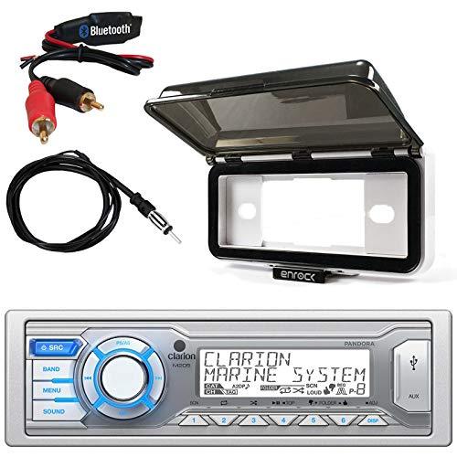 Single DIN BLUETOOTH/USB/MP3/WMA Bluetooth Stereo Receiver, Radio Protective Cover, AM/FM Antenna ()