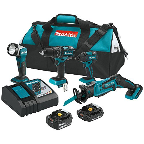 Makita XT444MR 18V LXT Lithium-Ion Cordless 4-Pc. Combo Kit (Discontinued by Manufacturer)