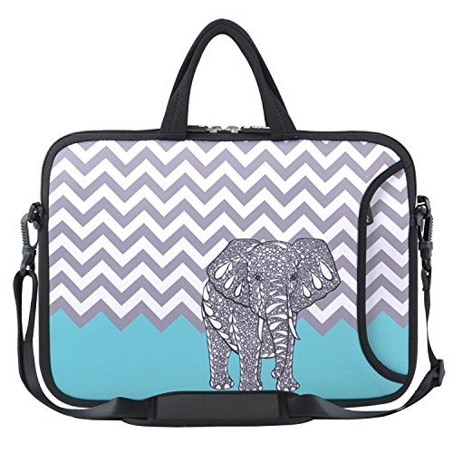 Chromebook Case 11, HESTECH 11.6-12.2 Neoprene Laptop Sleeve Computer Bag with Carrying Handle Compatible for Acer/HP Stream/Samsung/MacBook Air 11/, Chevron Elephant