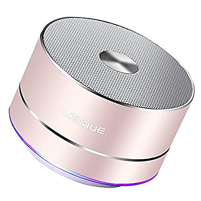 LENRUE Portable Wireless Bluetooth Speaker with Built-in-Mic,Handsfree Call,AUX Line,TF Card for Iphone Ipad Android Smartphone and More