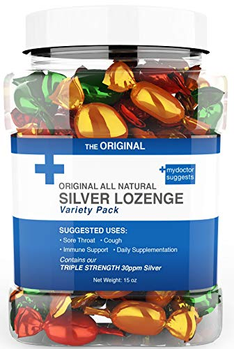 Lozenges Original All Natural Silver Lozenges - Variety Pack: The Perfect Cough Drop for Cough, Throat & Mouth Health and Immune Support - Contains 30ppm Silver Solution in Each Drop (Best Medicine For Tickle In Throat)