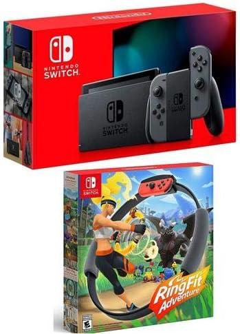 Nintendo Switch con mandos Joy-con Gris – W Ring Fit Adventure: Amazon.es: Electrónica