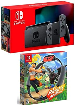Nintendo Switch con mandos Joy-con Gris – W Ring Fit Adventure ...