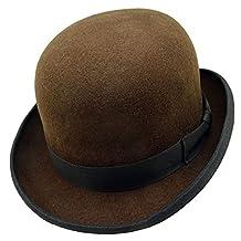 HATsanity Unisex Vintage Wool Felt Formal Dura Bowler Hat