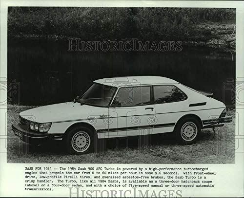 Vintage Photos 1984 Press Photo The Saab 900 APC Turbo Three-Door Hatchback Model - mjt19630