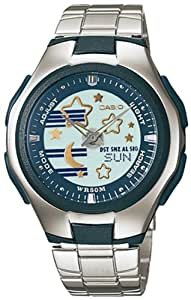 Casio lcf-10d-2a–Reloj de pulsera de mujer, correa de acero inoxidable color plata