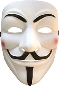 2pcs Cosplay Mask V for Vendetta Mask Anonymous Movie Guy Fawkes Halloween Masquerade Party Face March Protest Costume Accessory