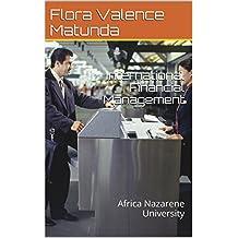 International Financial Management: Africa Nazarene University