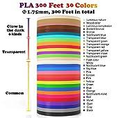 3D Pen/3D Printer Filament(16 Colors, 320 Feet) Bonus 250 Stencils eBooks - Dikale 3D Pen Filament 1.75mm PLA for Tecboss Nulaxy etc