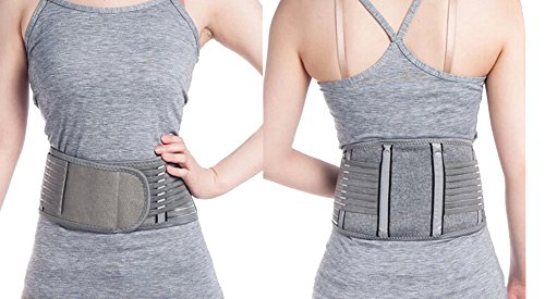 Zcargel Adjustable Elastic Bamboo Charcoal Fiber Medical Grade Exercise Brace,Double Pull Straps Lumbar Support Belt Brace,Lumbar Disc Herniation,Muscle Strain,Back Pain Protector for Women and Men by Zcargel (Image #6)
