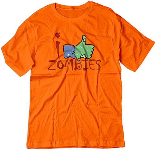 BSW Youth I Like Zombies Thumbs Up Facebook Theme Shirt XS Orange