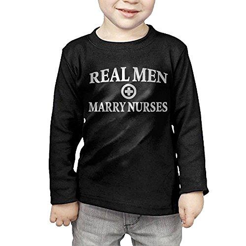 ZheuO Boys & Girls Baby Real Men Marry Nurses Soft 100% Cotton Tee Unisex Black 2 - Banner Reviews Mattress