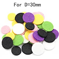 Boyiya 20 colorful cotton pad, Car Perfume Supplemental Pad Essential Oil Diffuser Cotton Decorate Jewelry Mat