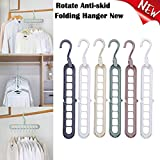 DELIKANG Clothes Hangers, Space Saving 9 Hole