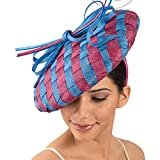 102029 - Sinamay Headband Fascinator - Royal/Geisha